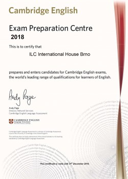 Cambridge Preparation Centre Certificate 2018